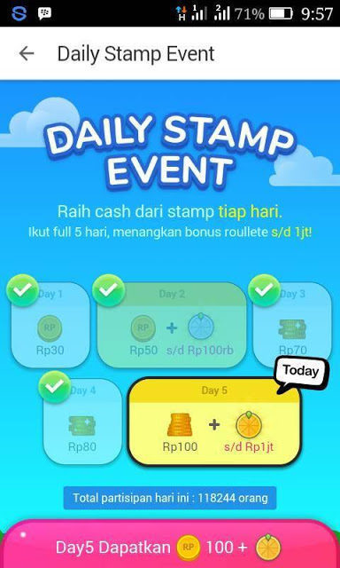 Daily stamp