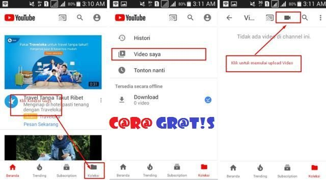 Channel Youtube Android