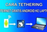 Cara Tethering Android